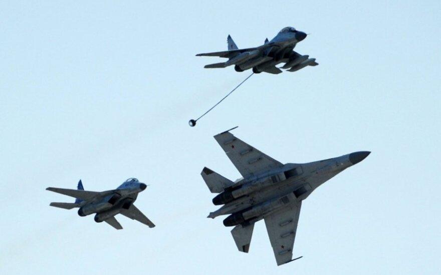 Praėjusią savaitę NATO naikintuvai 8 kartus lydėjo Rusijos orlaivius