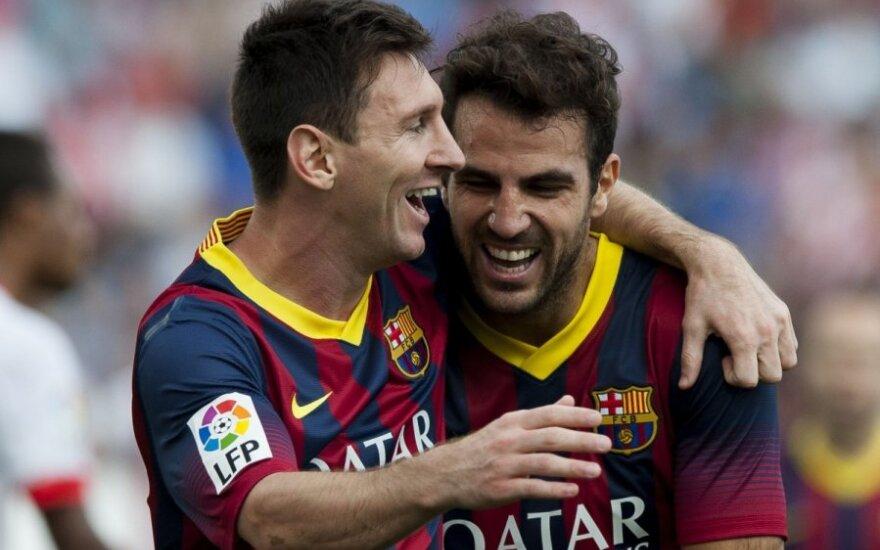 L.Messi ir C.Fabregasas