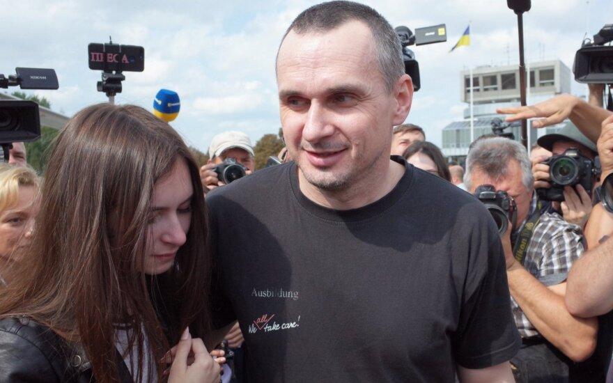 Olehas Sencovas grįžo į Ukrainą
