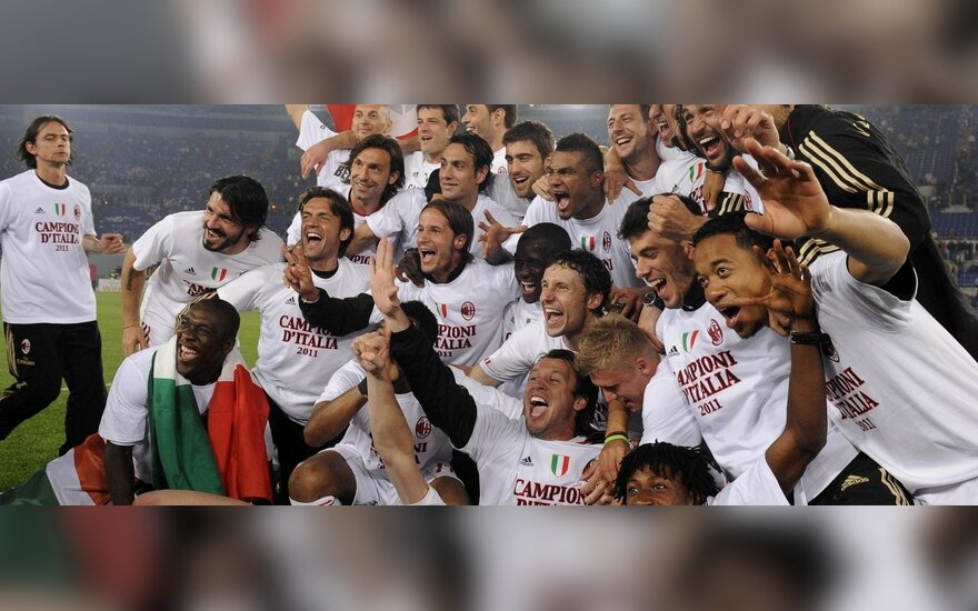 """Milan"" futbolininkai - Italijos čempionai"