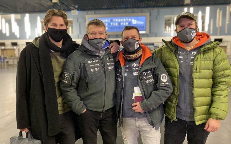 Dakaro lietuviai pradėjo savo kelionę į Saudo Arabiją