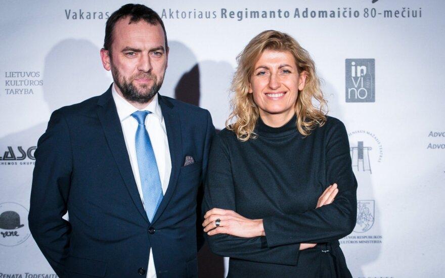 Viktoras Bachmetjevas ir kultūros ministrė Liana Ruokytė-Jonsson