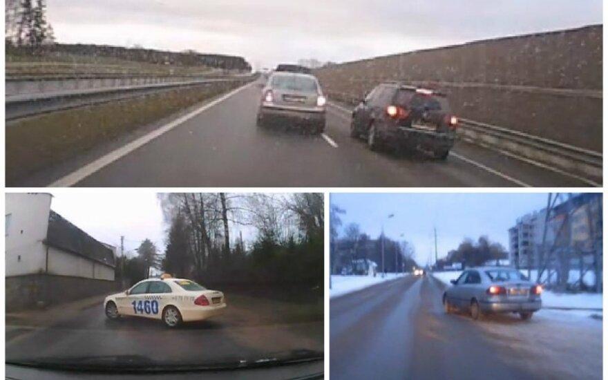 Veidrodėlius ignoruojantys vairuotojai
