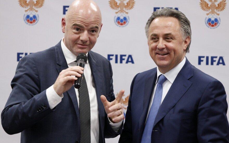Gianni Infantino ir Vitalijus Mutko