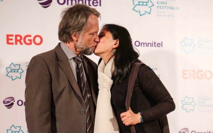Antanas Mockus su žmona