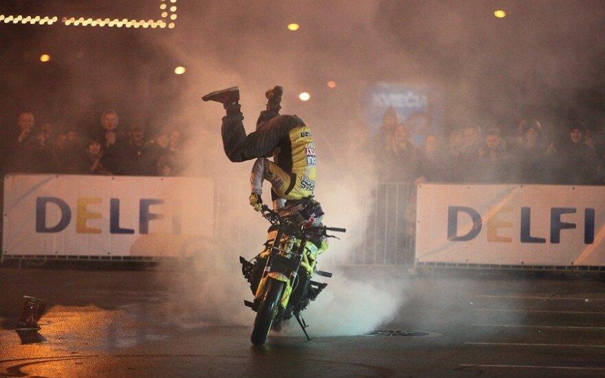 Geriausias šalies motoakrobatas A. Gibieža Europos taurei ruošia naują motociklą ir įspūdingą programą