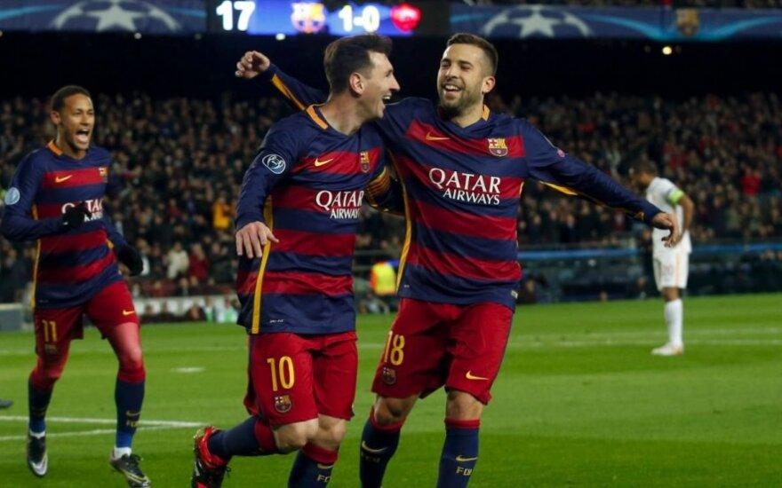"""UEFA Čempionų lyga: """"Arsenal"""" sugriebė šiaudą, o """"Barca"""" ir """"Bayern"""" kartu pelnė 10 įvarčių"""
