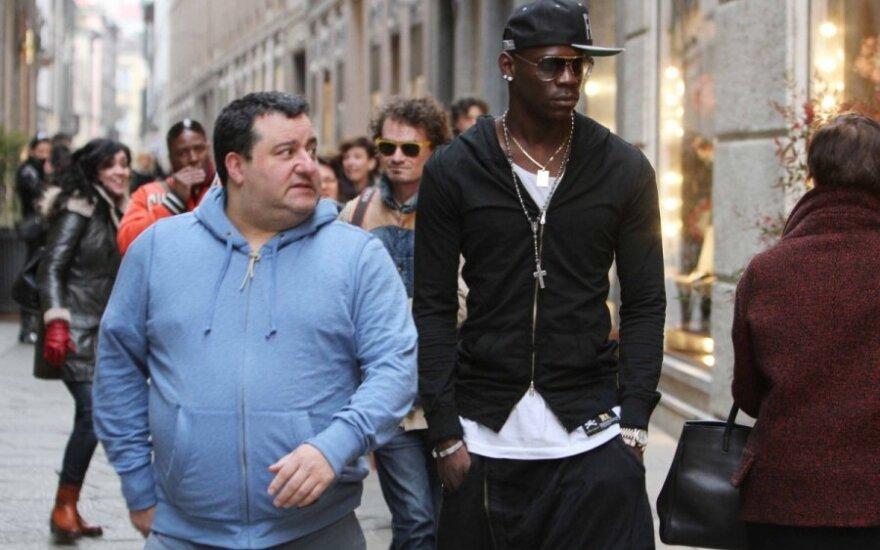 Mino Raiola ir Mario Balotelli