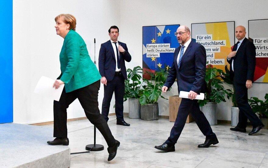 Angela Merkel, Martinas Schulzas