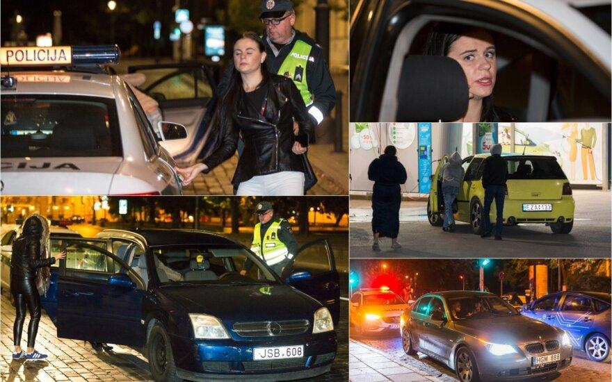 """Naktį Vilniuje pasižymėjo """"klevo lapai"""": vieną vairuotoją teko prilaikyti – mergina sunkiai paėjo"""