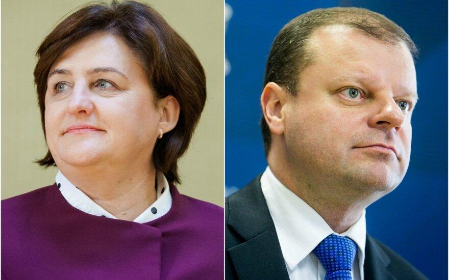 Loreta Graužinienė ir Saulius Skvernelis
