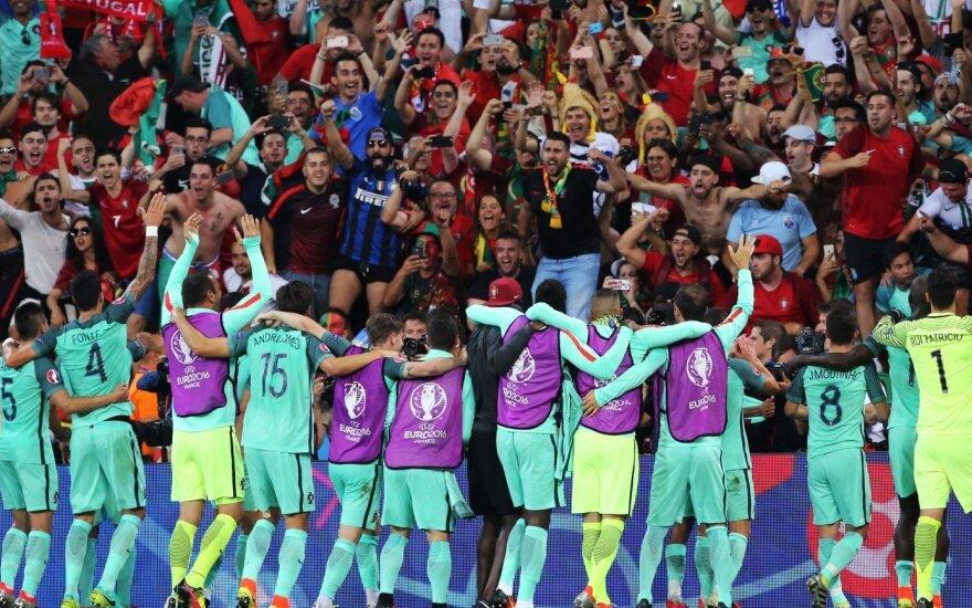 Euro 2016 kulminacija: savo triumfą pakartos prancūzai ar titulų badą nutrauks portugalai?