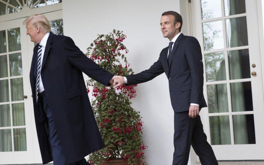 Pasaulis jų susitikimą stebėjo kaip spektaklį: ką reiškia Trumpo ir Macrono draugystė?