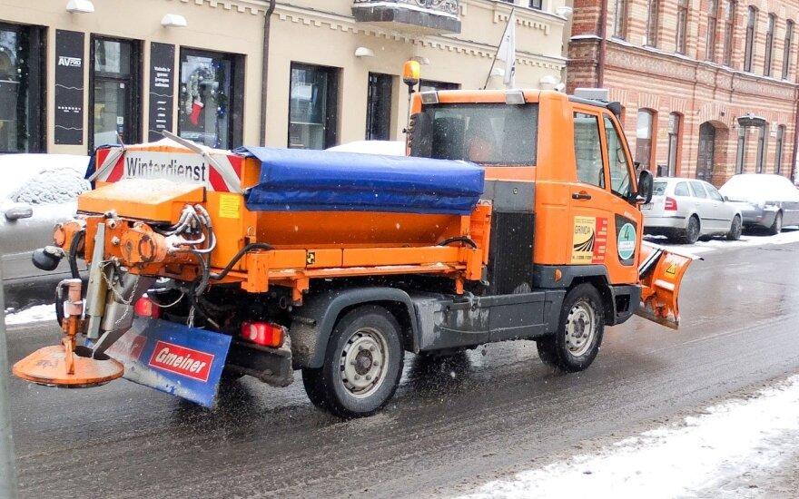 Kelininkų žiema neužklupo netikėtai – gatvės nuvalytos