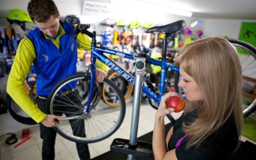 Viktorija Morozovaitė ir Vytautas Dronseika Londone atidarė dviračių parduotuvę, Arūno Baškio nuotr.