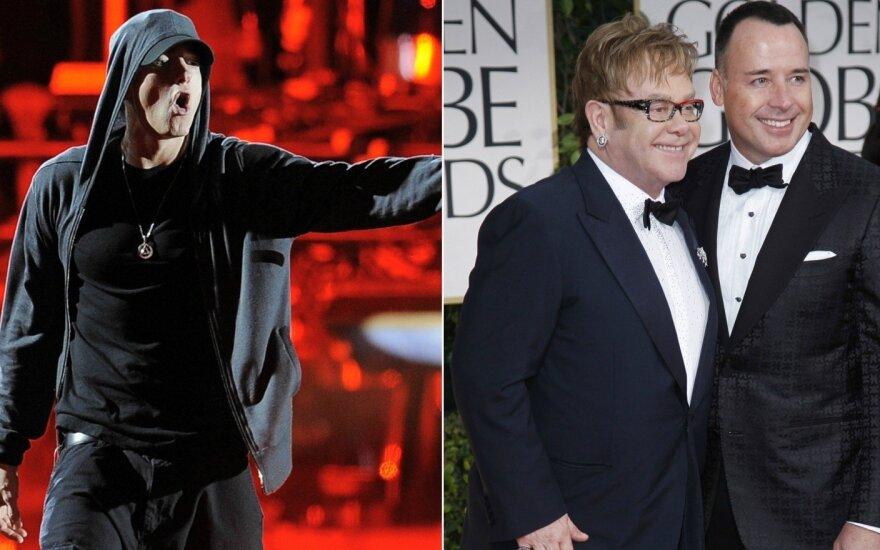 Eminem, Elton John ir David Furnish