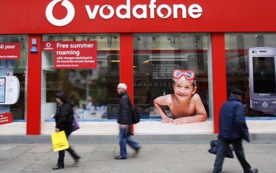 """""""Vodafone"""" pajamos pirmąjį ketvirtį augo 2,2 proc."""