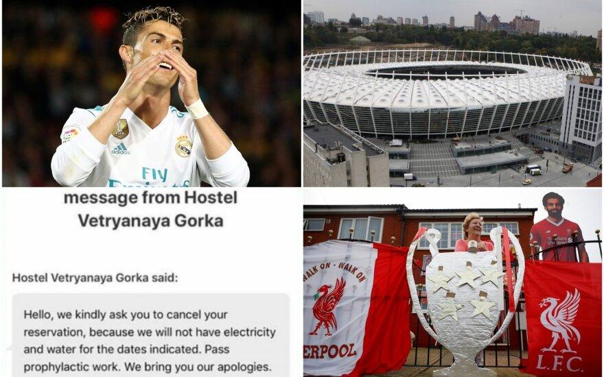 """Cristiano Ronaldo, Olimpinis Kijevo stadionas, """"Liverpool"""" sirgaliai"""