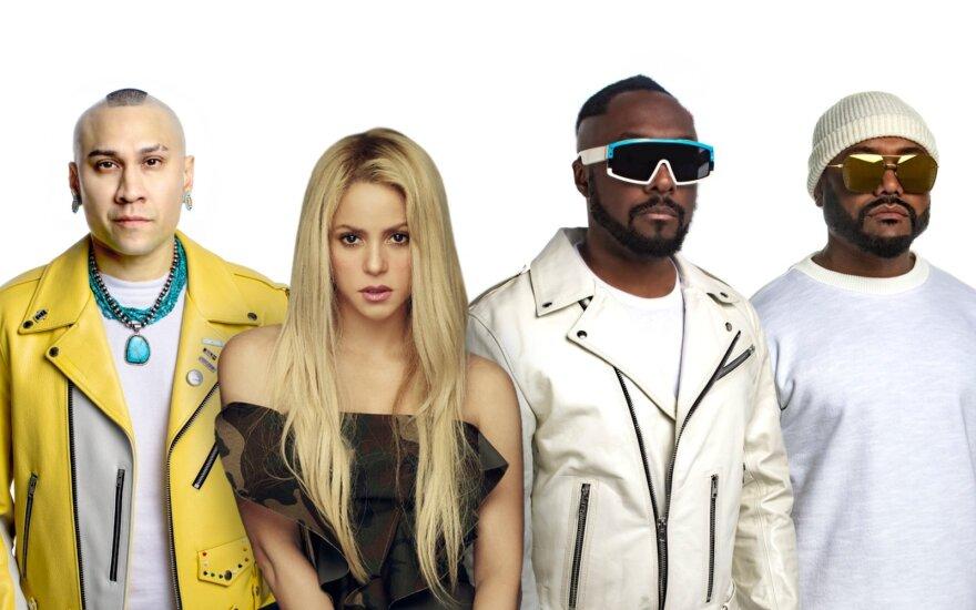 """Shakira ir """"Black Eyed Peas"""" pristato bendrą kūrinį"""