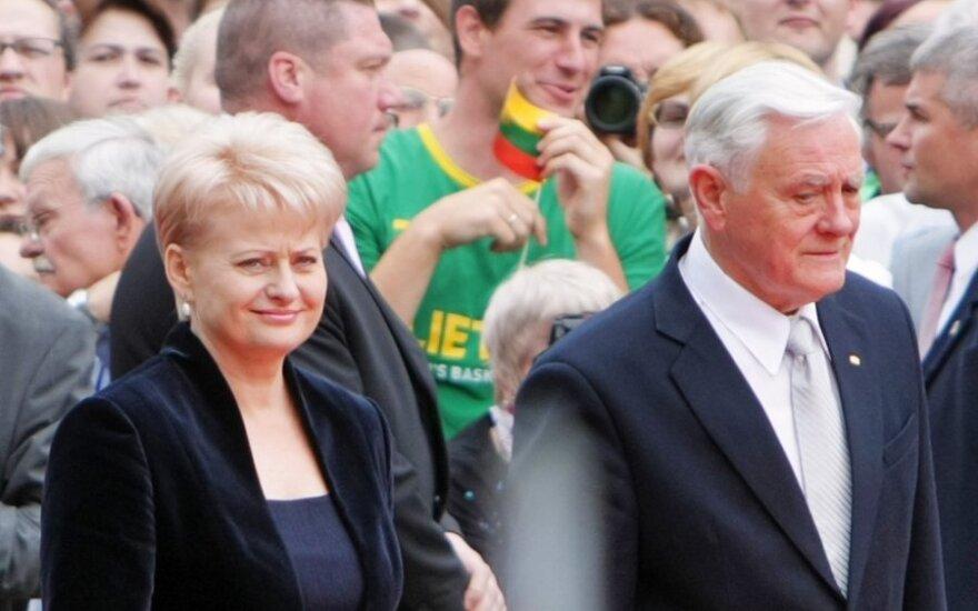 Dalia Grybauskaitė ir Valdas Adamkus
