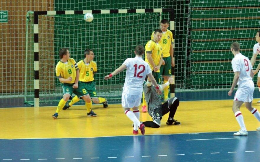 Lietuvos salės futbolininkai sužais dvejas kontrolines rungtynes su Anglijos rinktine