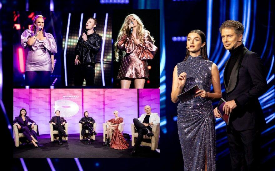 """""""Eurovizijos"""" atrankos akimirkos"""