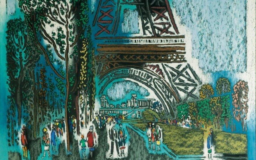Vytautas Kasiulis (1918–1995)  Eifelio bokšto papėdėje