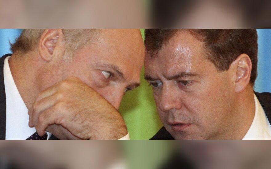 Aleksandras Lukašenka ir Dmitrijus Medvedevas