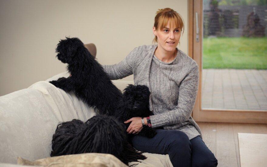 A. Andrulionienė su šunimis