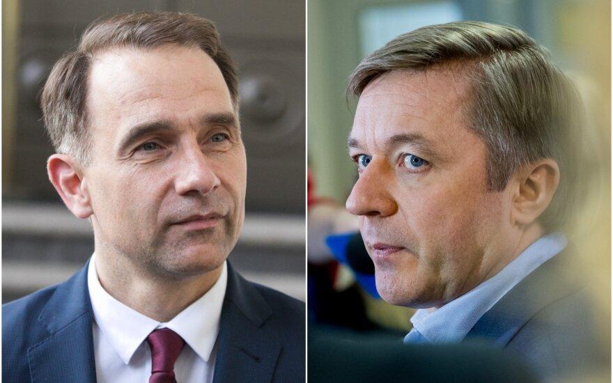 Rokas Masiulis ir Ramūnas Karbauskis