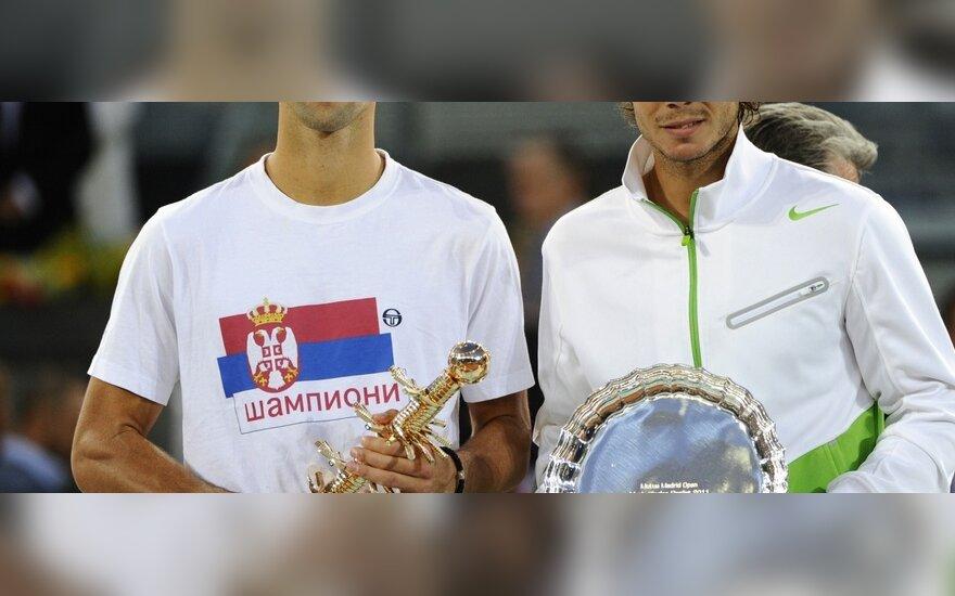 Novakas Djokovičius ir Rafaelis Nadalis