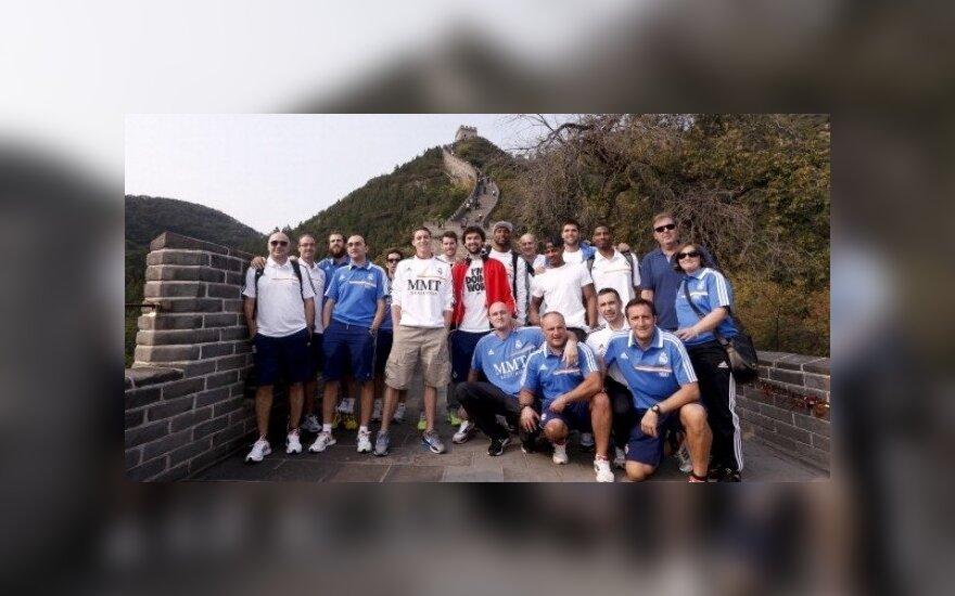 """Madrido """"Real"""" krepšininkai Kinijoje"""