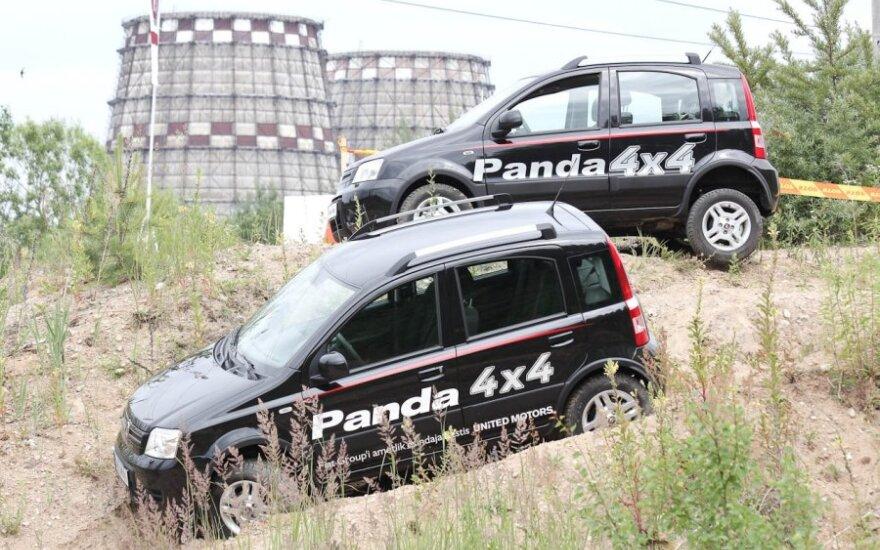 Fiat Panda bekelėje. J.Šeškausko nuotr.