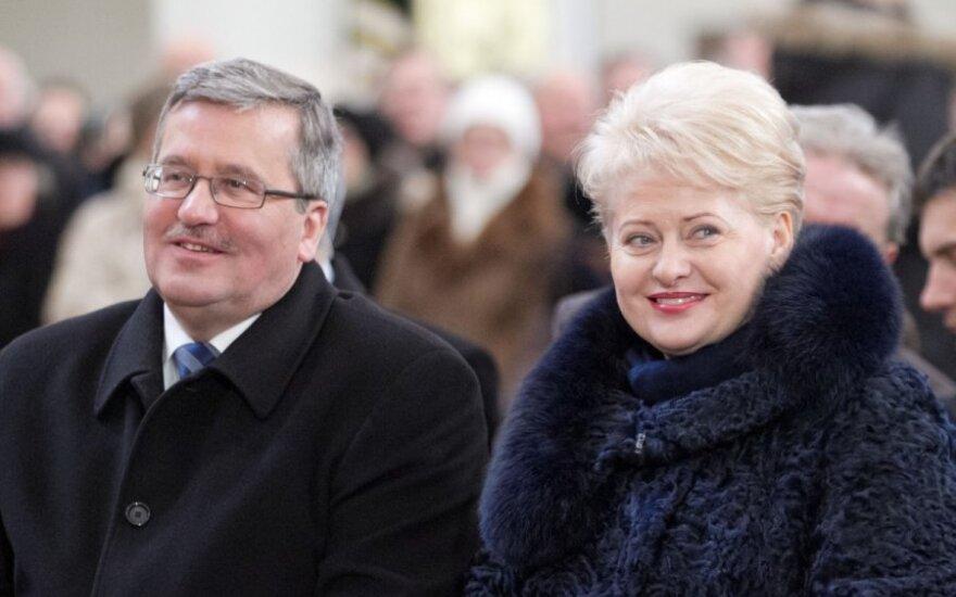 Polish President Bronislaw Komorowk and Dalia Grybauskaitė