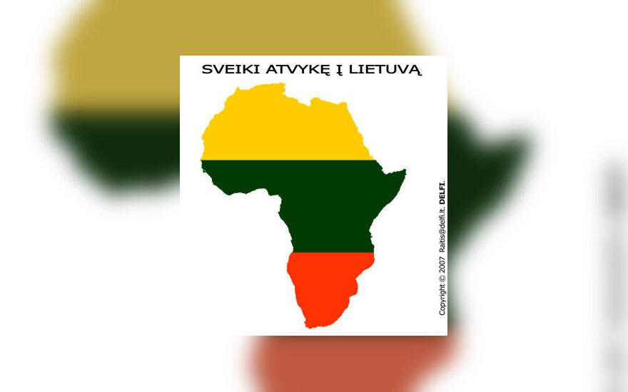 Sveiki atvykę į Lietuvą - karikatūra