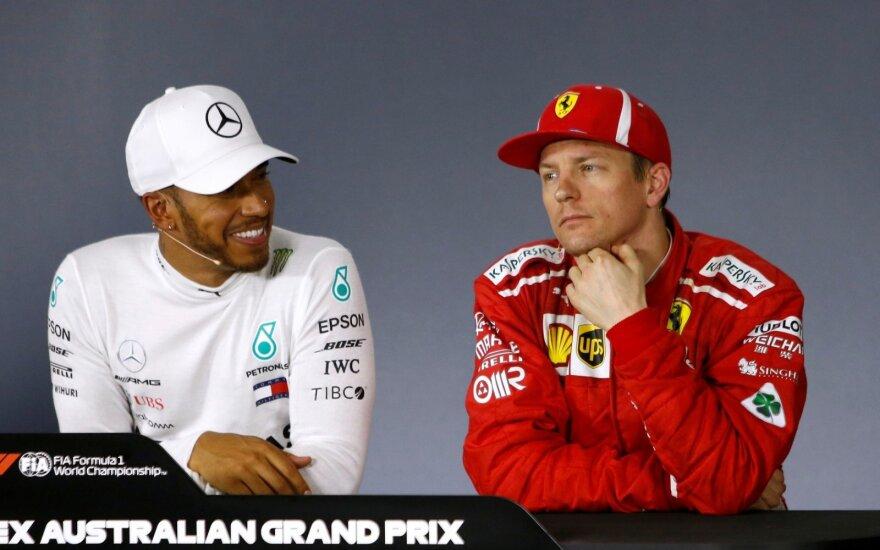 Lewisas Hamiltonas ir Kimi Raikkonenas