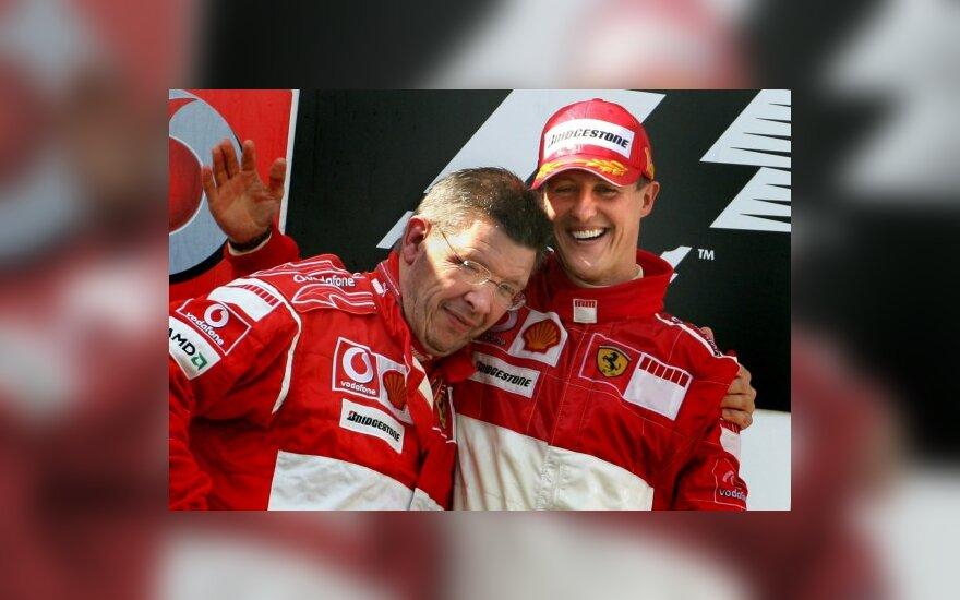 R.Brawnas ir M.Schumacheris vėl dirbs kartu
