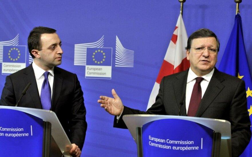 EK pirmininkas Jose Manuel Barroso, Gruzijos premjeras Iraklis Garibašvilis