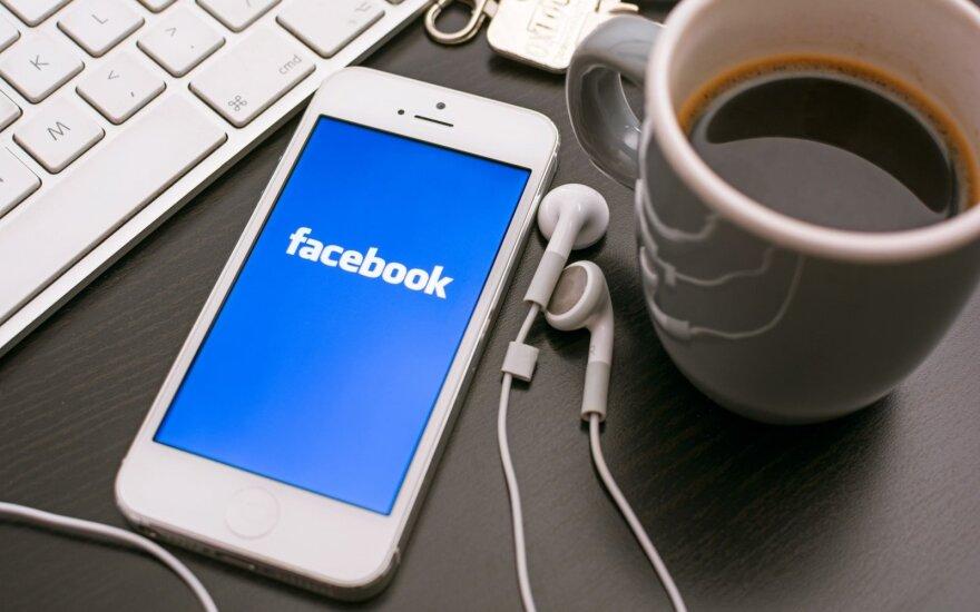 """""""Facebook"""" ketvirčio pelnas išaugo trigubai"""
