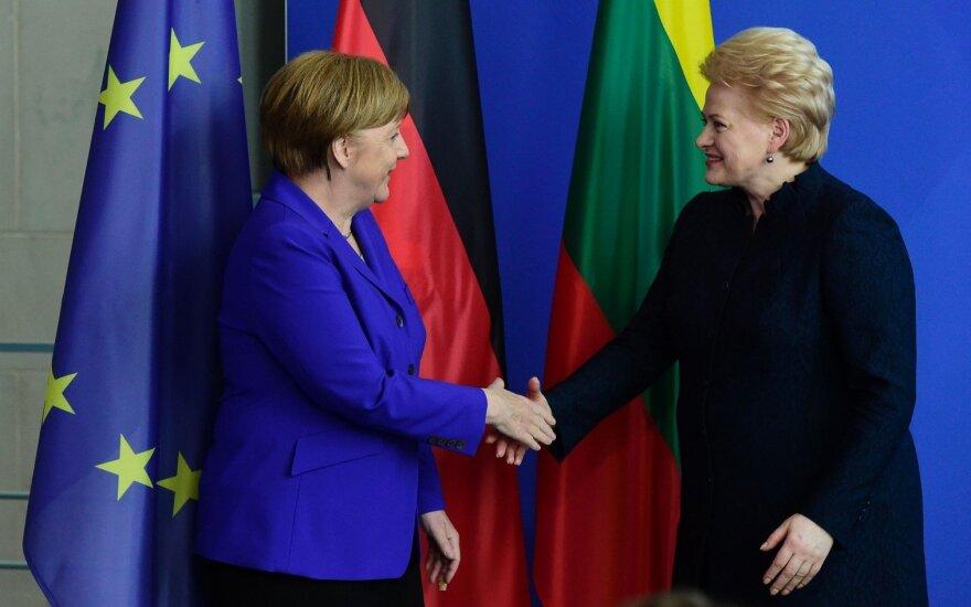 Grybauskaitės and Merkel