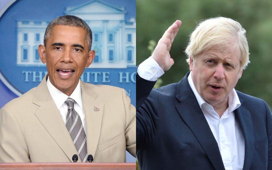 B. Obama ir B. Johnson