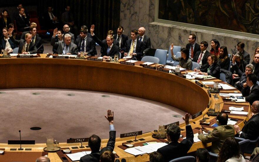 Šaukiamas naujas JT Saugumo Tarybos posėdis dėl padėties Sirijoje