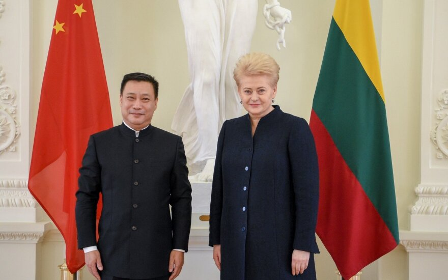 Shen Zhifei ir Dalia Grybauskaitė