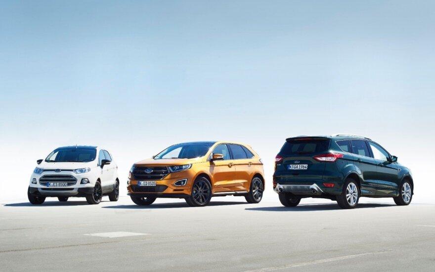 """""""Ford"""" SUV modelių pardavimai augo beveik trečdaliu"""