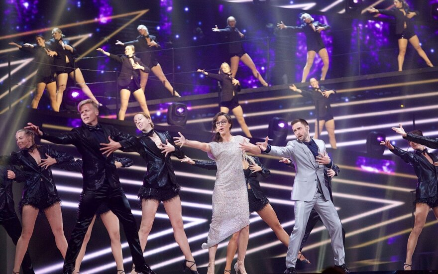 What proportion of Lithuania's population watched Eurovision?