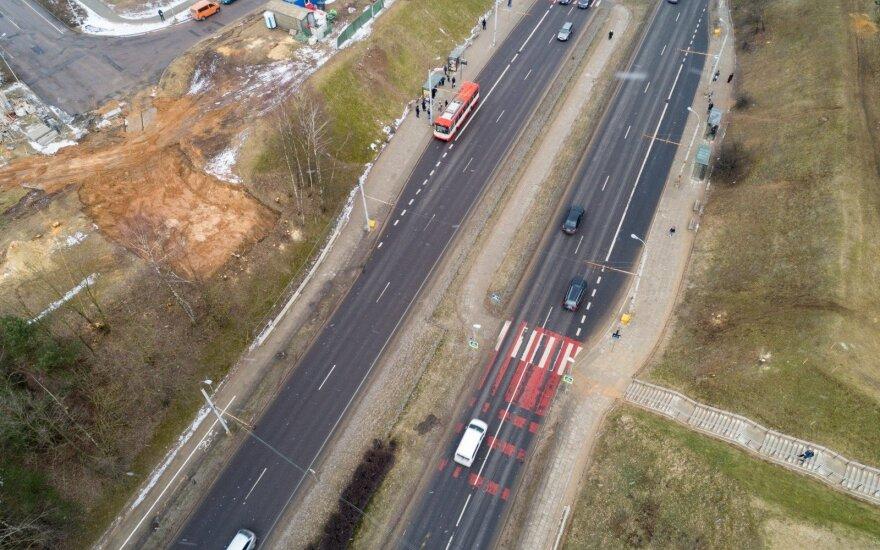 Naujo viaduko statybos Vilniuje