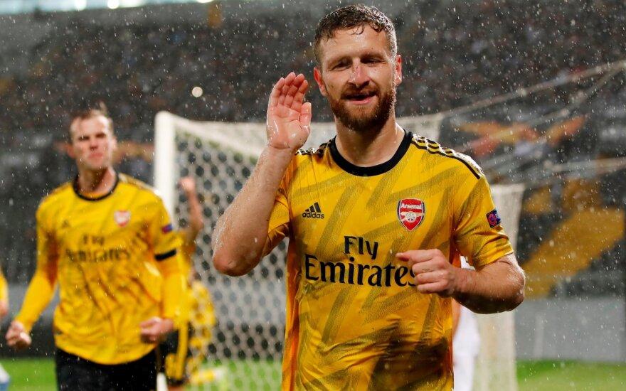 """""""Arsenal"""" klubui išsprūdo pergalė UEFA Europos lygoje"""