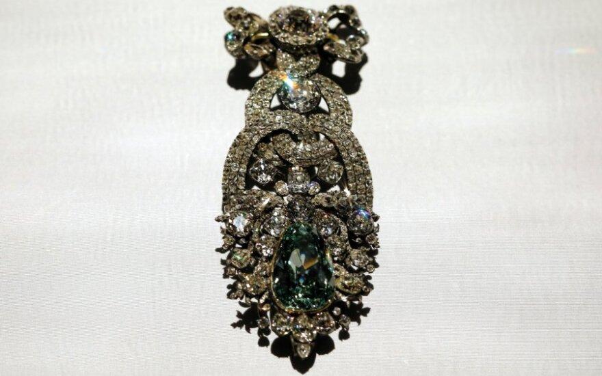 Tarp Dresdeno muziejuje pavogtų brangenybių – 49 karatų deimantas