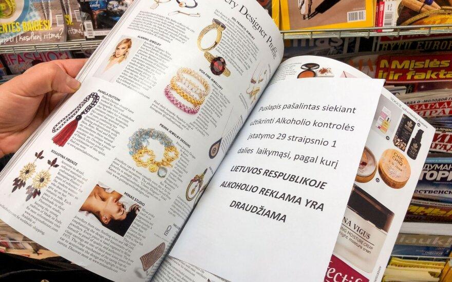 Vyriausybė teiks savo siūlymus dėl alkoholio reklamos žurnaluose