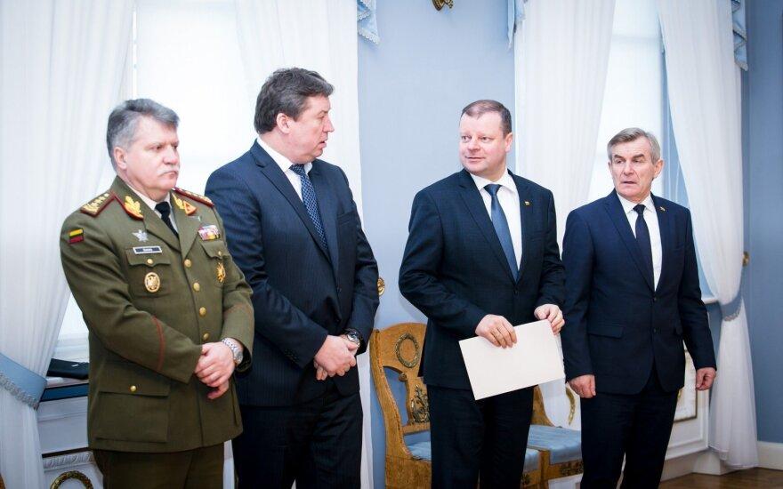 Vytautas Jonas Žukas, Raimundas Karoblis, Saulius Skvernelis, Viktoras Pranckietis